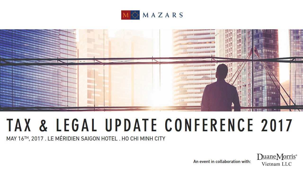 Mazars Tax & Legal Update Conference 2017 - post